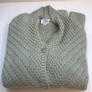Light olive green long sleeve button down sweater